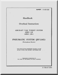 Aircraft Tail Turret  System AERO 21B Overhaul Manual NAVAER 11-45-530