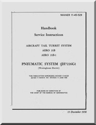 Aircraft Tail Turret  System AERO 21B  Service Manual NAVAER 11-45-529