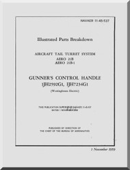 Aircraft Tail Turret  System AERO 21B  IPC Manual NAVAER 11-45-537