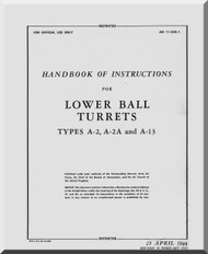 Lower Ball  Turrets  Type A-2, ... A-13  Hamdbook Manual 11-45G-1