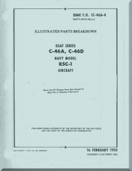 Curtiss C-46A,  C-46D, R5C-1  - Illustrated Parts Breakdown Manual  - T.O. 1C-46A-4 - 1944 -