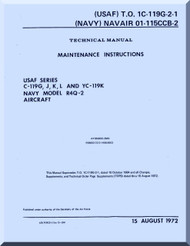 Fairchild C-119 G ,J K, L, YC119K R4Q-2 R4Q-2 Maintenance Instruction Catalog   Manual TO  1C-119G-2-1 , 1972
