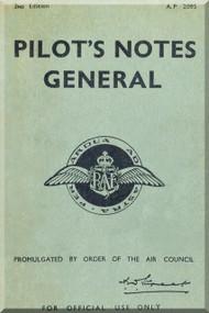 Royal Air Force Pilot's Notes General A.P. 2095