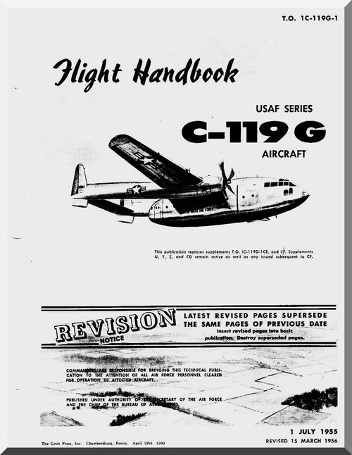 Fairchild C-119 G , Flight Manual TO 01-119G-1 , 1955