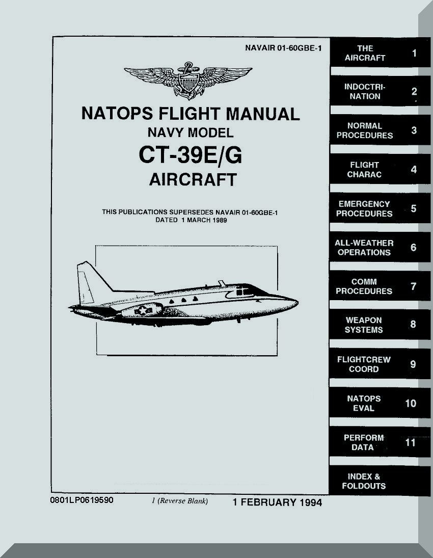 North American Aviation CT-39 E / G Aircraft Flight Manual