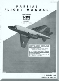 North American Aviation T-39 F  Aircraft Preliminary Flight Manual - T.O 1T-39F-1  1969