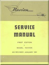 North American Aviation Navion Aircraft Service Manual - 1951