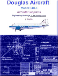 Douglas R4D-8 Aircraft Blueprints Engineering Drawings  Collection - 6 DVDs