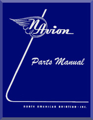 North American Aviation Navion Aircraft Parts Manual - 1947