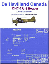 De Havilland Canada  DHC-2 /  U-6  Beaver  Aircraft Blueprints  Engineering Drawings - DVD