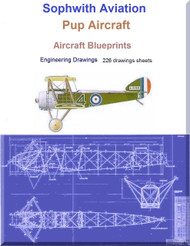 Sophwith Aviation Pup Aircraft Blueprints Engineering Drawings - Download