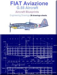 FIAT G.55 Aircraft Blueprints Engineering Drawings - Download