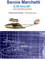 Savoia Marchetti S.55 Aircraft Blueprints Engineering Drawings - Download