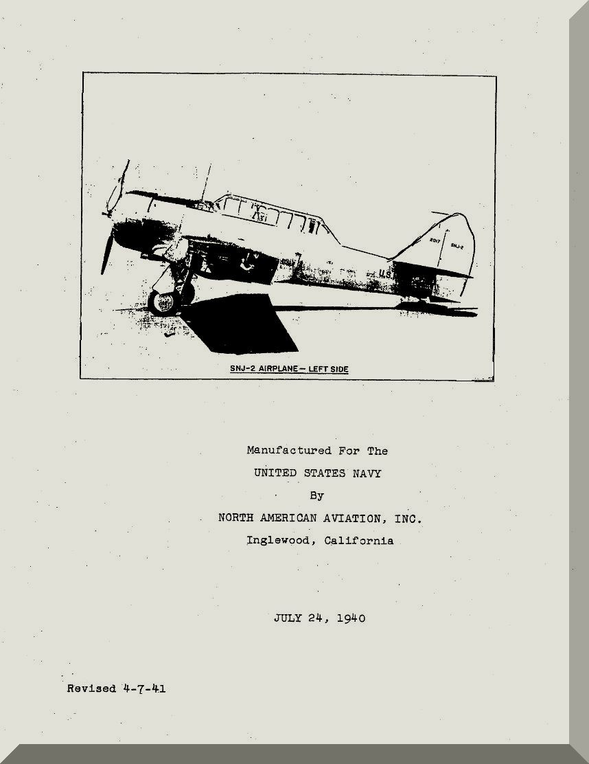 North American Aviation SNJ- 2 Aircraft Maintenance Manual