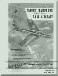 Republic F-84-F  Aircraft Flight  Manual AN. 01-84F-1  1953