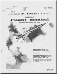 Republic F-105 F  Aircraft Flight Handbook  Manual TO 1F-105F-1  , 1964
