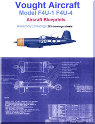 Vought F4U-1  F4U-4 Aircraft Blueprints Assembly Drawings - Download
