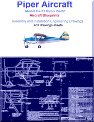 Piper AircrafPa-11 to Pa-22 Assembly and Installation Engineering Drawings Blueprints - Download