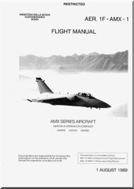 Aeritalia Aermacchi  Embraer AMX Aircraft Flight Manual AER. 1F-AMX-1