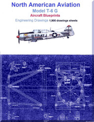 North American Aviation T-6 G Aircraft Blueprints Engineering Drawings - Download