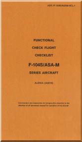 Aeritalia / Lockheed F-104 S Aircraft Check Functional Check Flight Manual, ( Italian Language ) AA 1F-104S / ASAM-33CL1