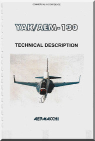 Aermacchi YAK AEM -130 Aircraft Technical Brochure  Manual ( English Language )