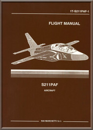 Aermacchi  / SIAI Marchetti S.211 PAF Aircraft Flight  Manual, ( English Language )
