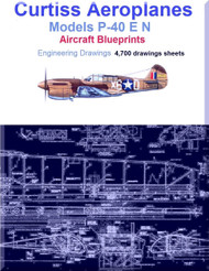 Curtiss P-40 E N Aircraft Blueprints Engineering Drawings - DVD