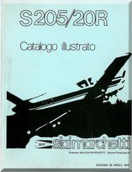 SIAI Marchetti S. 205  / 20R Aircraft  Illustrated Parts  Manual,  Catalogo Illustrato  (Italian Language )