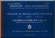 S.M.79  Bomber  Aircraft Illustrated Parts Catalog  Manual, Catalogo Nomenclatore ( Italian Language ) - C.A. 313 Ter 2 - 1939