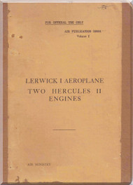 Sauders Roe Lerwick Aircraft  Technical  Manual -  ( English Language ) - Air Publication 1661 Vol 11959