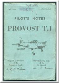 Percival Provost T.1  Aircraft  Pilot's Notes Manual