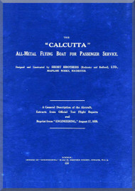 Short Calcutta Aircraft Technical  Manual -  ( English Language ) ,  1928