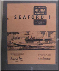 Short Seaford Aircraft  Technical  Manual -  ( English Language ) , AP 4100 A ,