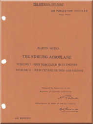 Short Stirling  Aircraft  Pilot's  Notes Manual AP 1660 A B