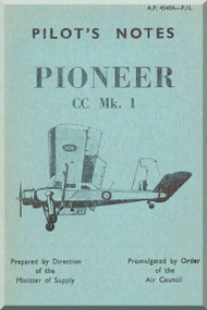 Scottish Aviation Prestwick Pioneer CC Mk.1  Aircraft  Pilot's Notes Manual