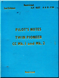 Scottish Aviation Twin Pioneer CC Mk.1 and Mk.2 Aircraft  Pilot's Notes Manual