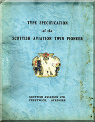 Scottish Aviation Twin Pioneer  Aircraft  Type Specification  Manual