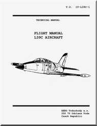 Aero Vodochoy L-39 C Aircraft  Flight Manual - USA - 1T-L39C-1