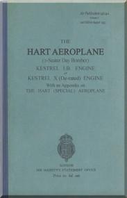 Hawker Hart  Aircraft Technical Manual -   Air Publication 1404 A, Vol.  1 2n edition August 1932