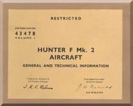 Hawker Hunter  F Mk.2  Aircraft Maintenance Manual - 4347B - Volume 1