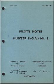 Hawker Hunter  F Mk.9  Aircraft Pilot's Notes Manual