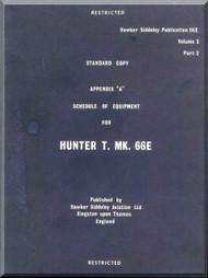 Hawker Hunter  Mk.66 E  Aircraft Technical Manual -  Schedule of Equipment