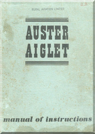 Auster Aiglet Aircraft Maintenance Instruction Manual
