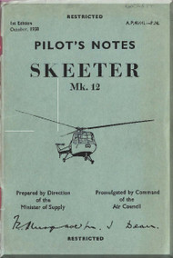 Saunders Roe Skeeter  Mk.12 Helicopter Pilot Notes  Manual