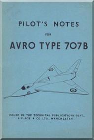A. V. Roe Avro 707 B   Aircraft Pilot's Notes Manual