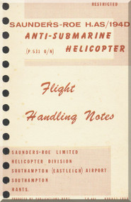 Saunders Roe Skeeter H. AS /194 D Helicopter Flight  Notes Manual