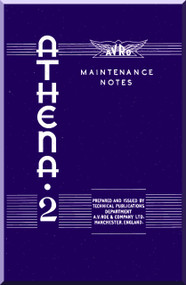 A. V. Roe Avro Athena Aircraft Maintenance Notes Manual