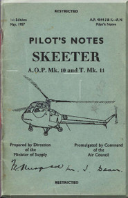 Saunders Roe Skeeter  Mk 10 11 Helicopter Pilot Notes  Manual