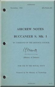 Blackburn Buccaneer S Mk. 1 Aircraft Aircrew Notes Manual